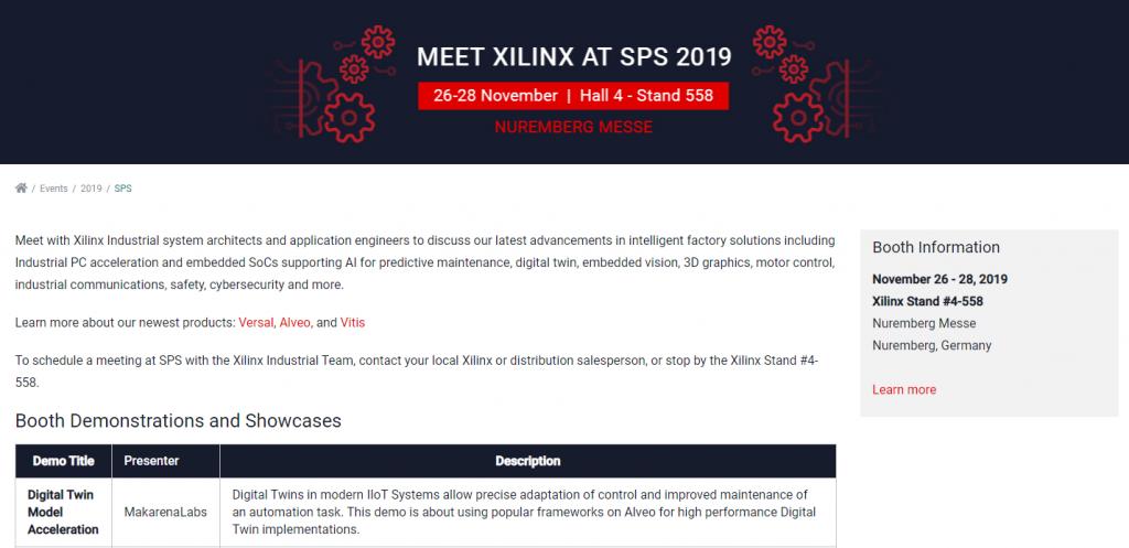 SPS Nuremberg 2019 Xilinx on site