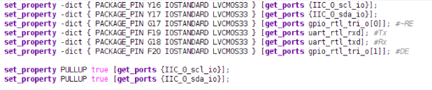 Constraint of Vivado for Microzed 7010