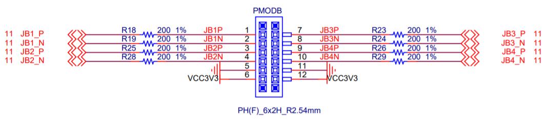 PMODB Schematics